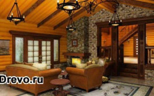Внутренняя отделка деревянных домов из оцилиндрованного бревна