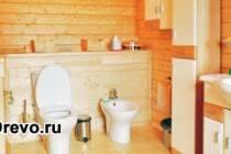 Внутренняя отделка ванной в деревянном доме