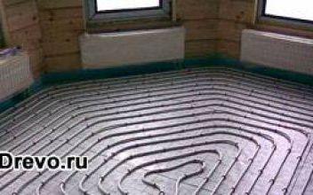 Устройство водяного тёплого пола в деревянном доме