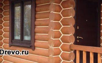 Герметизация или заделка швов бревенчатого дома снаружи