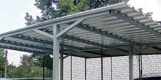 Односкатная крыша навеса