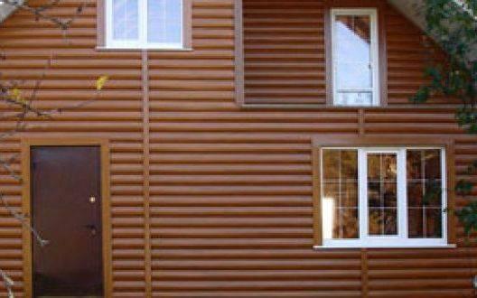 Отделка фасадов деревянных домов сайдингом под бревно