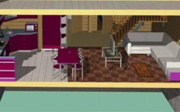 Индивидуальная планировка дома из бруса типовых размеров