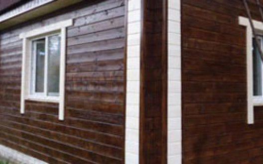 Доступные варианты окраски домов из клеёного бруса