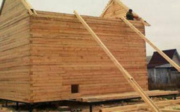 Строительство домов из нестроганого бруса