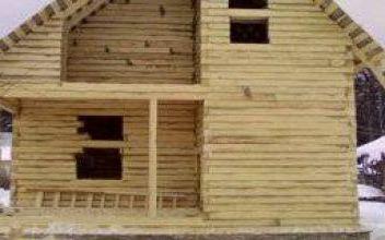 Усадка деревянного дома из бруса - величина и время усадки