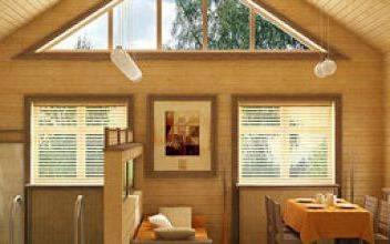 Внутренняя отделка дома из калиброванного бруса