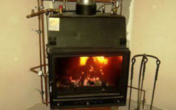 Водяное отопление от печи на дровах