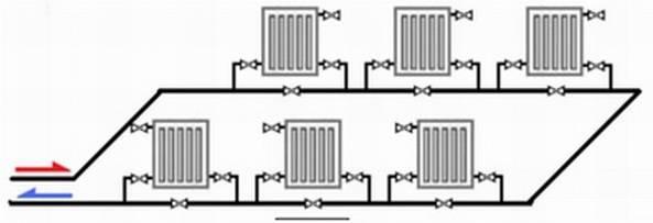 Схема отопления Ленинградка