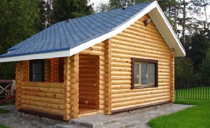 Дачный дом из оцилиндрованного бревна