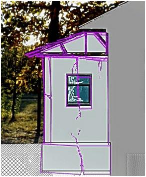 Деформация пристройки