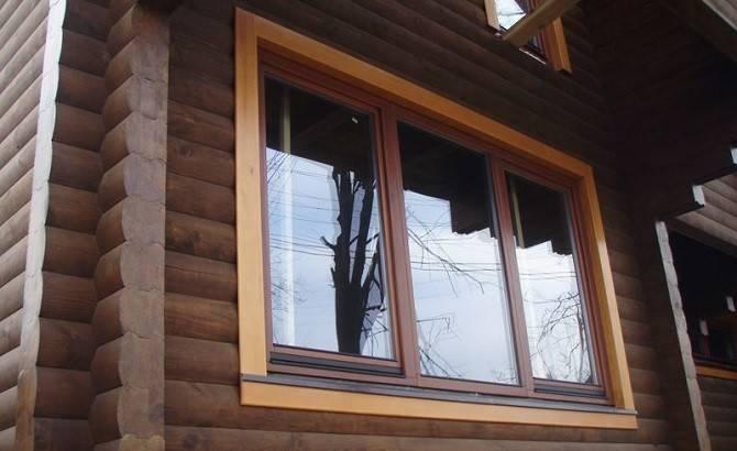Дерево-алюминиевые окна для загородного дома