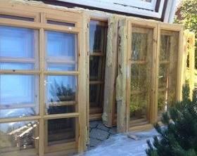 Деревянные бу окна