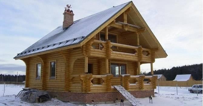 Дом из оцилиндрованного бревна по финской технологии