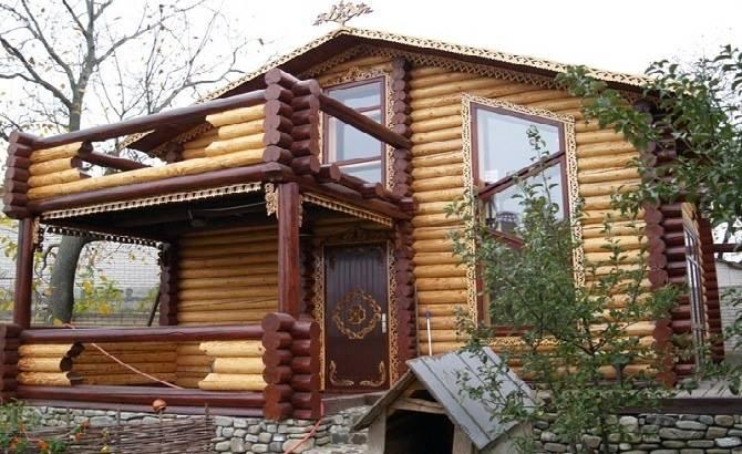Дом из оцилиндровки от ПСК АЗАМАТ