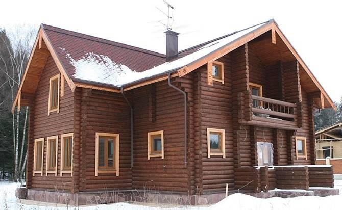 Дом из оцилиндровки от Севердрев