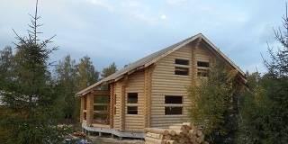 Дом из оцилиндровки в Калуге