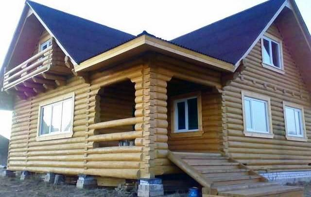 Дома из оцилиндрованного бревна в Кургане