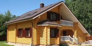 Дома из оцилиндрованного бревна в Нижнем Новгороде