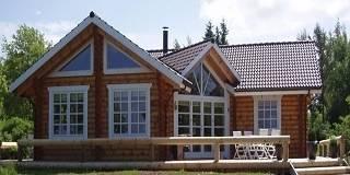 Дома из оцилиндрованного бревна в Туле