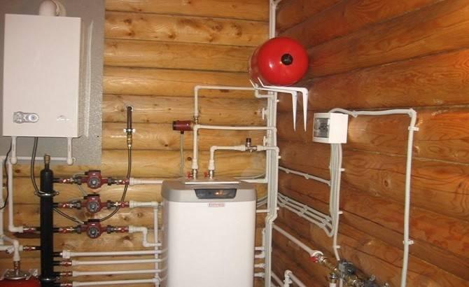 Электрокотлы для дома из оцилиндрованного бревна