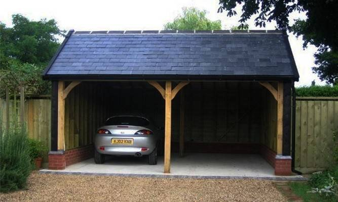 Проект гаража из бруса с бетонным полом