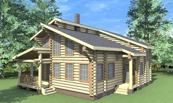 Индивидуальные проекты домов из оцилиндровки