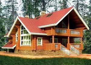 Индивидуальные проекты домов из оцилиндрованного бревна