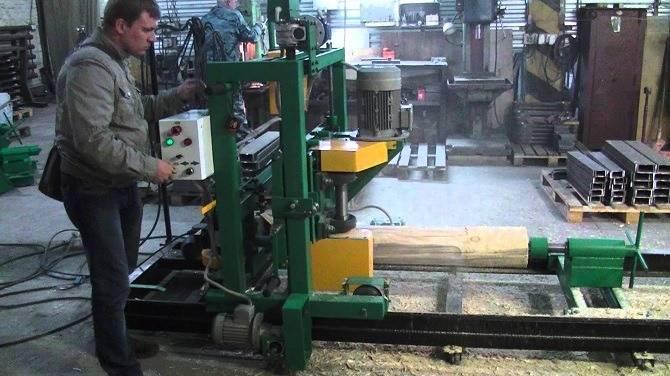 Изготовление оцилиндрованного бруса