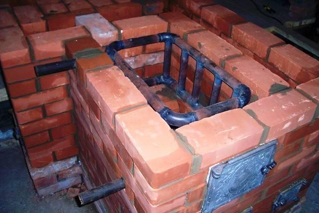 Кирпичная печь с водяным отоплением