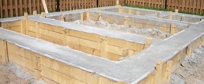 Ленточный фундамент бани