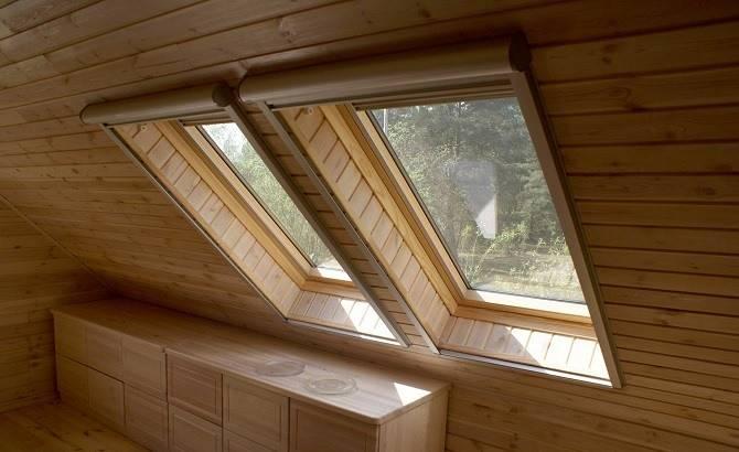 Мансардные окна в деревянном доме