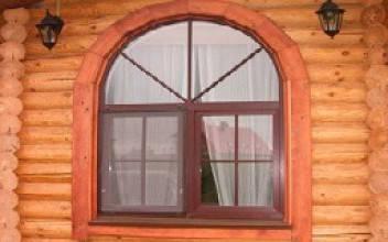 Деревянный дом с арочными окнами - как делают окна арками