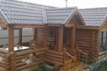 Строительство бани из бревна с террасой - как спроектировать сруб