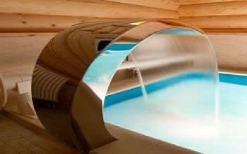 Как сделать баню из оцилиндровки с бассейном внутри