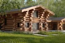Баня с мансардой - гостевой дом из оцилиндрованного бревна 6 × 6