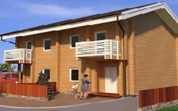 Строительство дома из бруса на 2 семьи