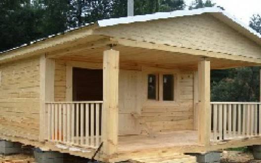 Строительство дачного дома из бруса 5 на 5
