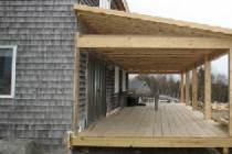 Деревянная пристройка к дому из пеноблоков своими руками