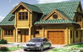 Деревянные дома из бруса с гаражом под одной крышей