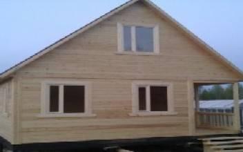 Дачный дом 6х6 из бруса с мансардой