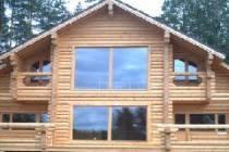 Преимущества клеёного оцилиндрованного бревна для строительства дома