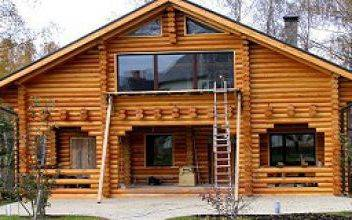Изготовление домов из срубов оцилиндрованного бревна – Алтай