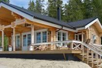 Оцилиндрованное бревно в Карелии: домостроение из северного леса