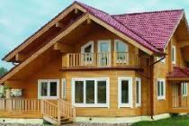Красивые дома из профилированного бруса с эркером