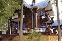 Дом-терем из оцилиндрованного бревна под старину - как построить
