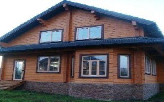 Строительство двухэтажного дома из клеёного бруса