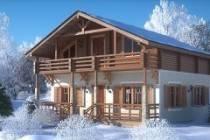 Как построить комбинированный дом из оцилиндрованного бревна и бруса