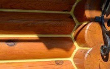 Герметик для заделки швов в доме из оцилиндрованного бревна