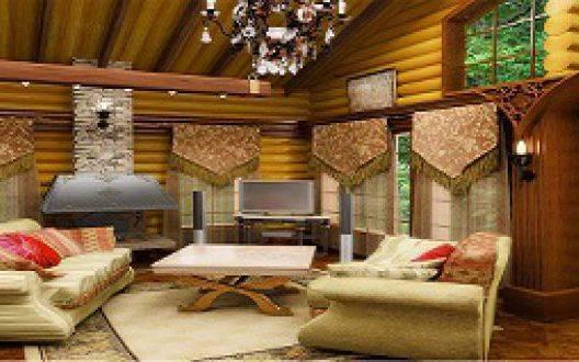Интерьеры домов из оцилиндрованного бревна - особенности дизайна